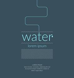 Water Poster Design vector