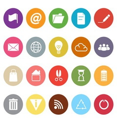 Web and internet flat icons on white background vector image