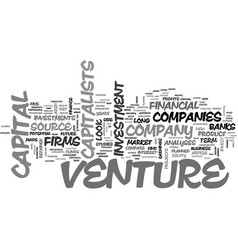 What makes you eligible for venture capital text vector