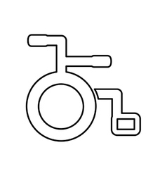 Wheelchair icon Medical and health care concept vector