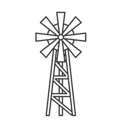 windmill farm isolated icon vector image