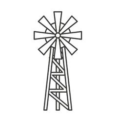 Windmill farm isolated icon vector