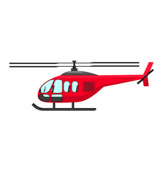 a cartoon helicopter vector image vector image