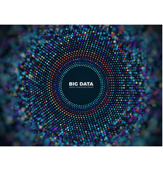 big data information concept abstract vector image vector image