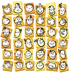 emotions and expression cartoon collection vector image vector image
