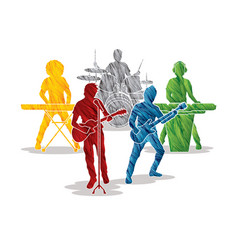 music bands graphic vector image vector image