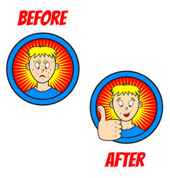 new pimple boy vector image