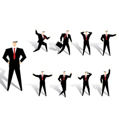 business man action vector image vector image