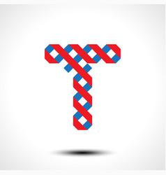 letter t logo icon design template element vector image vector image