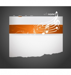 musical website template vector image vector image