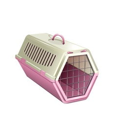pet kannel pink cat carrier vector image