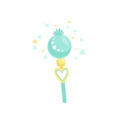 Wonderful blue stick with magical power fairytale vector