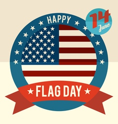 Flag Day of united states flat design card vector image vector image