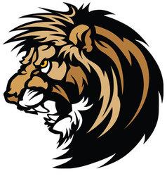 lion head graphic mascot vector image vector image