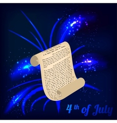 roll and firework in honor of Independence Day vector image