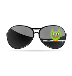 sunglasses with funny animal color vector image