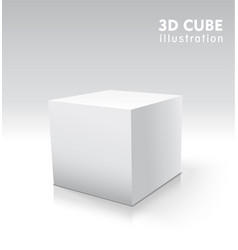 3d cube for your graphic design vector image vector image