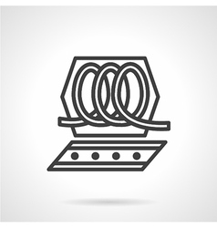 Chocolate processing simple line icon vector