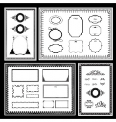 frame and ornaments vector image vector image