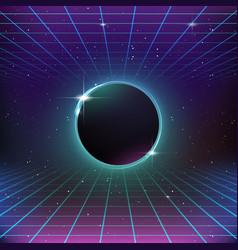 80s retro sci-fi background vector image