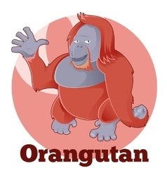 ABC Cartoon Orangutan vector