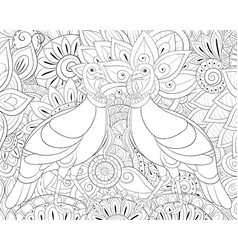adult coloring bookpage a thanksgiving day theme vector image