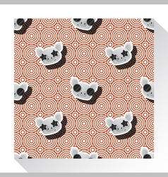 Animal seamless pattern collection with piggy 8 vector