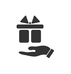 arm of gift icon flat vector image