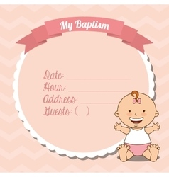 Baptism invitation design vector