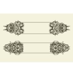 baroque floral frames set vector image