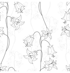 bellflower seamless vector image