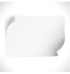 Blank curved banner on white vector image