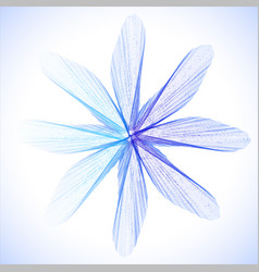 blue abstract flower vector image