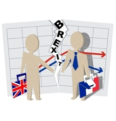 Britain and France Brexit Severance of relations vector
