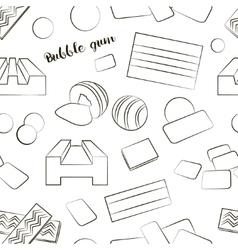Bubble gum set pattern vector