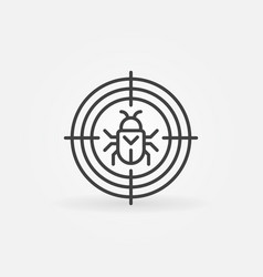 Bug in target virus or malware concept vector