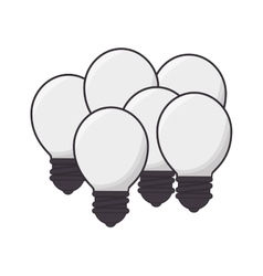Bulb light emblem isolated icon vector