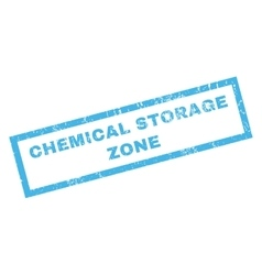 Chemical Storage Zone Rubber Stamp vector