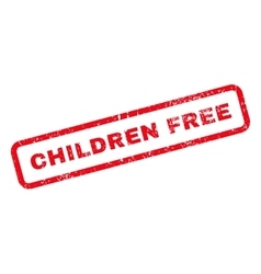 Children Free Text Rubber Stamp vector