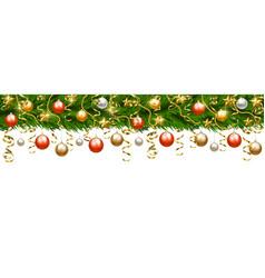 christmas garland isolated vector image