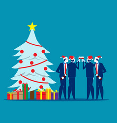 christmas with friends concept business vector image