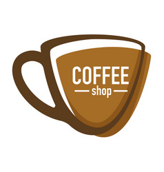 coffee shop or house isolated icon hot drink in vector image