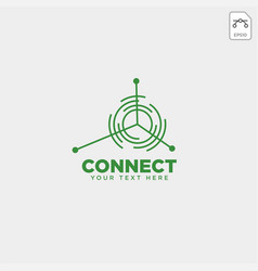 connecting communication logo template icon vector image