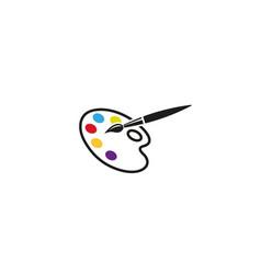 Creative abstract palette brush logo design symbol vector