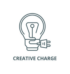 creative charge line icon linear concept vector image