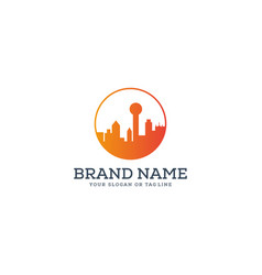 Design dallas city skyline vector