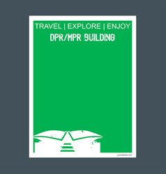 dprmpr buildings jakarta indonesia monument vector image