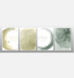 earth tone watercolor background set vector image