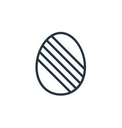 Easter egg icon easter egg editable stroke easter vector