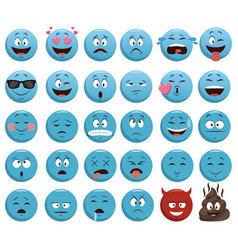 Emojis chat icons vector